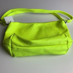 Neon shoulder purse